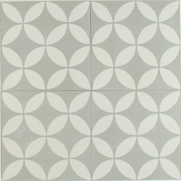 Encaustic Cement Tile Patchwork – Green | Hadeda Tiles