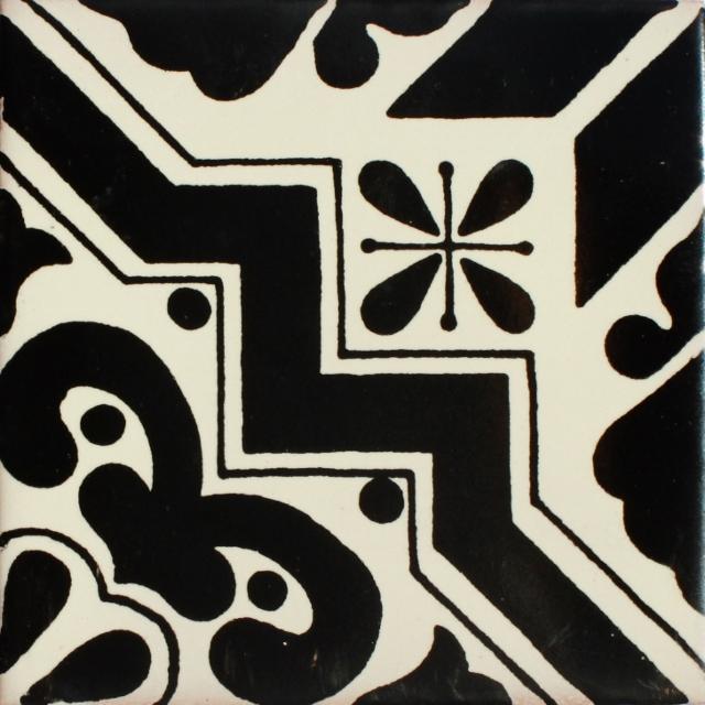 Mexican Talavera Tile Had 088 Black Hadeda Tiles
